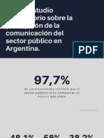 1º estudio exploratorio sobre la percepción de la comunicación del sector público en Argentina