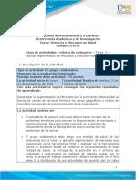 Guia de actividades y Rúbrica de evaluación - Unidad 1 - Tarea 2 - Aplicar segmentación de mercados y posicionamiento