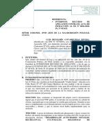 RECURSO DE APELACION BENJAMIN COVARRUBIAS