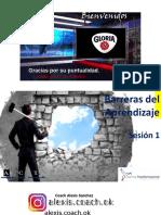 borrador BARRERAS DE APRENDIZAJE SESIÓN UNO Y DOS