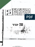 Farfisa VIP-233 Schematic Diagram