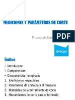 UNIDAD II Mediciones y Parámetros de corte 2019-2-1