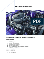 Carrera de Mecánica Automotriz UMSA