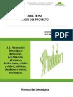2.2. Planeación Estratégica