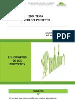 2.1 Origenes de los Proyectos