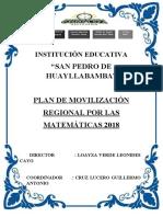 PLAN DE MOVILIZACION POR LAS MATEMATICAS