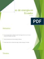 Fuentes de energía en Ecuador