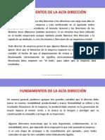 FUNDAMENTOS DE ALTA DIRECCIÓN