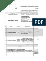 PROGRAMA DE AUDITORIAS 2020 LEYENDA EL DORADO