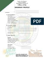 RCSP Barangay Profile