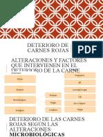 DETERIORO DE CARNES ROJAS