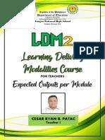 LDM 2 Outputs Cesar Ryan B. Patac - Team 1 SBD2