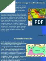Lecture Note 2 Phanerozoic Historical Geology of Arabian Peninsula