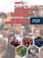 CGTP-CENAJUPE-ADEPP-ANCIJE Propuesta de Reforma Integral del Sistema de Pensiones