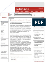 La Tribune.fr - Altana vend sa pharmacie à Nycomed
