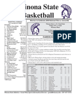 Winona State Warrior Men's Basketball Feb. 1, 2011 Game Notes