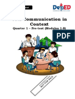 Vinzen Josh L. Borja - PRETEST-in-Oral-Communication (Answered)