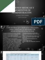 LUGAR Y VIA DE ADMINISTRACION DE MEDICAMENTOS