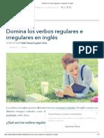 Domina los verbos regulares e irregulares en inglés