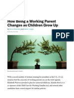 How Being a Working Parent Changes as Children Grow Up