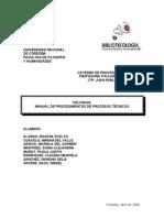 Manual Procedimientos Procesos Tecnicos