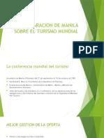LA DECLARACION DE MANILA SOBRE EL TURISMO MUNDIAL