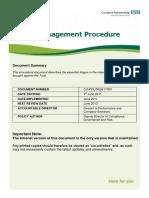 Claims Management Procedure