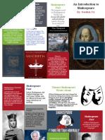 Shakespeare Brochure