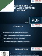 Measurement of Humidity