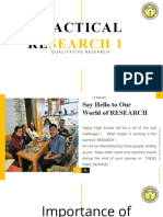 PRACTICAL RESEARCH 1 -