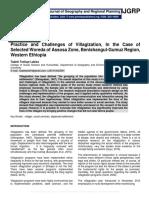 Practice and Challenges of Villagization, In the Case of Selected Woreda of Assosa Zone, Benishangul-Gumuz Region, Western Ethiopia