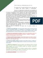 DINÁMICAS DE GRUPO y CORTOMETRAJES