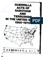 Guerrilla Acts of Sabotage and Terrorism in the United States 1965-1970