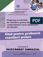 Ghid consilieri scolari Invatamant Gimnazial _vol II cu BT