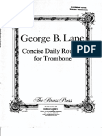 LANE-Concise daily routine for trombone