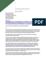 Veteran Letter on Muslim Regiment 14 October 2020