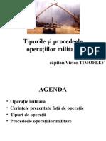 Tipurile si procedeele operatiilor militare