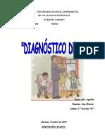 DIAGNOSTICO DE AULA