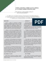Produccion cientifica española Salud Laboral
