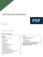 Third Quarter 2020 Earnings Supplement