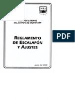 REGLAMENTO DE ESCALAFON
