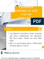 Common Errors in the Use of Adjectives