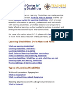 Electronic Primer on Learning Disabilities