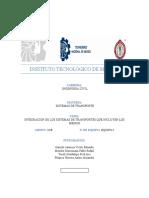 T 1.1 MAPA CONCEPTUAL INTEGRACIÓN DE SISTEMAS DE TRANSPORTE
