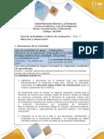 Guía de actividades y rúbrica de evaluación - Fase 3 - Selección y Observación