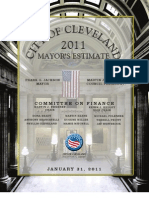 2011 Mayors Estimate Bdgt CLE OH