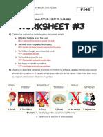 8° Worksheet #3 - ThirdTerm resuelto