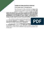 ACTA DE ACUERDO DE PARALIZACIÓN DE PERITAJE