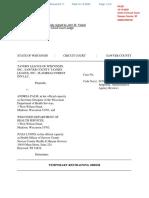 Sawyer County Case 2020CV000128 Tavern League of Wisconsin, Inc. et al vs. Andrea Palm et al