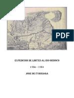 Jose de Iturriaga Expedicion de Limites 1754 - 1761